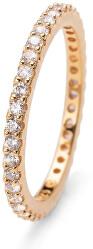 Pozlacený stříbrný prsten s krystaly Jolie 63225G 001