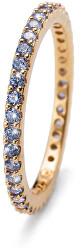 Pozlacený stříbrný prsten s modrými krystaly Jolie 63225G BLU