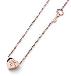Romantický náhrdelník Srdce s krystalem Swarovski Keylove 12171RG