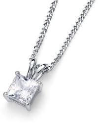 Stříbrný náhrdelník s krystalem Catch 61142 WHI (řetízek, přívěsek)
