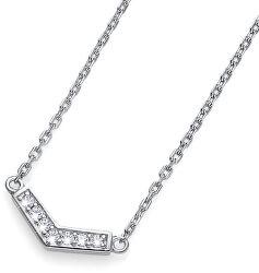 Stříbrný náhrdelník s krystaly Bend 61145