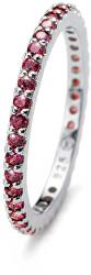 Stříbrný prsten s fialovými krystaly Jolie 63225R PUR