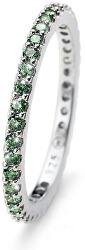 Stříbrný prsten se zelenými krystaly Jolie 63225R GRE