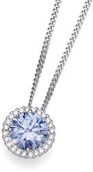 Stříbrný náhrdelník Triumph 61138 BLU (řetízek, přívěsek)