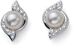 Trblietavé náušnice s perličkami Bun 22832