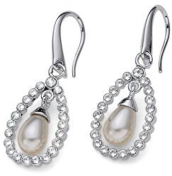 Trblietavé náušnice s perlou Pearl Drop 22773