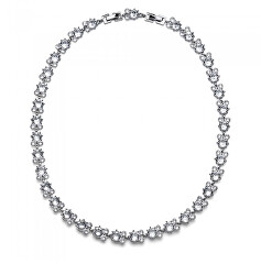Třpytivý náhrdelník s čirými krystaly Say 12205