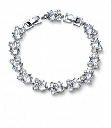 Třpytivý náramek s čirými krystaly Say 32301