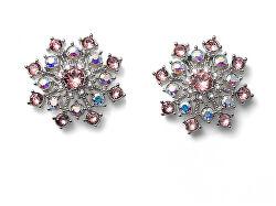 Zimní náušnice pecky s krystaly Swarovski Freeze 22908