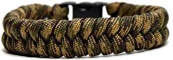 Paracord náramek Fishtail Zelený