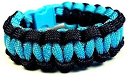 Brățară multifuncțională Paracord Solomon Negru-Albastru