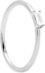 Ezüst gyűrű csillogó cirkónium kővel AMANI Silver AN02-146