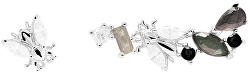 Asymetrické náušnice ze stříbra se zirkony REVERY Silver AR02-321-U
