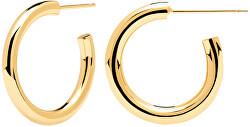 Pozlacené kruhové náušnice Supreme CLOUD Gold AR01-378-U
