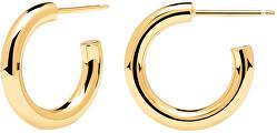 Minimalistické pozlacené náušnice kruhy Medium CLOUD Gold AR01-377-U