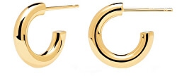 Minimalistické pozlacené náušnice kruhy Mini CLOUD Gold AR01-376-U