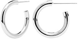 Stříbrné kruhové náušnice Supreme CLOUD Silver AR02-378-U