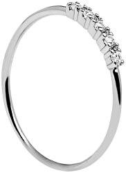 Ezüst gyűrű csillogó cirkónium kővel MISTY Silver AN02-117