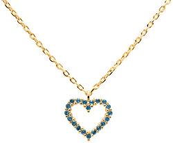Něžný pozlacený náhrdelník se srdíčkem Celeste Heart Gold CO01-225-U (řetízek, přívěsek)