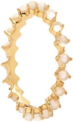 Něžný pozlacený prsten se zirkony LADY BIRD Gold AN01-135