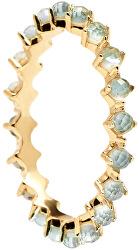 Něžný pozlacený prsten se zirkony MINT BIRD Gold AN01-140