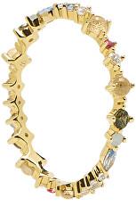 Gyengéd aranyozott ezüst gyűrű csillogó cirkónium kövekkel PAPILLON Gold AN01-191