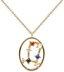 Originální pozlacený náhrdelník Blíženci GEMINI CO01-346-U (řetízek, přívěsek)