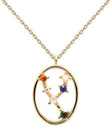 Originální pozlacený náhrdelník Býk TAURUS CO01-345-U (řetízek, přívěsek)