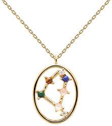 Originální pozlacený náhrdelník Kozoroh CAPRICORN CO01-353-U (řetízek, přívěsek)