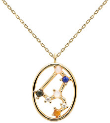 Originální pozlacený náhrdelník Lev LEO CO01-348-U (řetízek, přívěsek)
