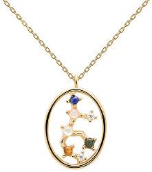 Originální pozlacený náhrdelník Panna VIRGO CO01-349-U (řetízek, přívěsek)
