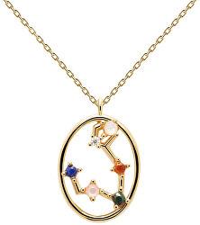 Originální pozlacený náhrdelník Ryby PISCES CO01-343-U (řetízek, přívěsek)