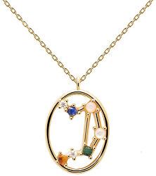 Originální pozlacený náhrdelník Váhy LIBRA CO01-350-U (řetízek, přívěsek)