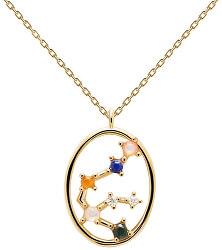 Originální pozlacený náhrdelník Vodnář AQUARIUS CO01-342-U (řetízek, přívěsek)