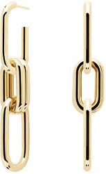 Originální pozlacené visací náušnice 2v1 MUZE Gold AR01-074-U