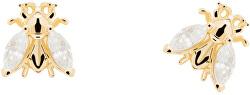 Pozlátené náušnice zo striebra sa zirkónmi BUZZ Gold AR01-311-U