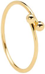 Pozlacený minimalistický prsten ze stříbra AURA Gold AN01-128