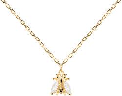 Pozlacený náhrdelník ze stříbra s včeličkou BUZZ Gold CO01-233-U