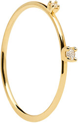 Pozlacený prsten s čirými zirkony KITA Gold AN01-126