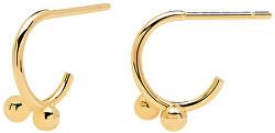 Půvabné pozlacené náušnice AURA Gold AR01-085-U