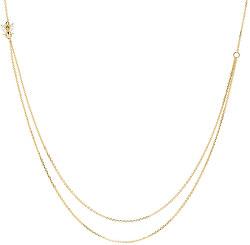 Elegantní pozlacený dvojitý náhrdelník ze stříbra BREEZE Gold CO01-202-U