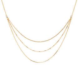 Elegantní pozlacený náhrdelník se zirkony NIA Gold CO01-140-U