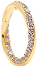 Elegáns aranyozott gyűrű cirkónium kövekkel CAVALIER AN01-197