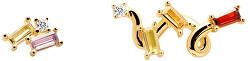Hravé asymetrické náušnice ZAZA Gold AR01-113-U