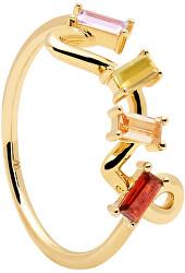 Bájos aranyozott gyűrű cirkónium kövekkel ZAZA Gold AN01-142