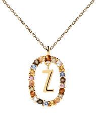 """Krásný pozlacený náhrdelník písmeno """"Z"""" LETTERS CO01-285-U (řetízek, přívěsek)"""