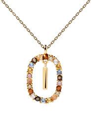 """Krásný pozlacený náhrdelník písmeno """"I"""" LETTERS CO01-268-U (řetízek, přívěsek)"""