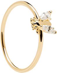 Krásný pozlacený prsten s něžnou včeličkou BUZZ Gold AN01-218