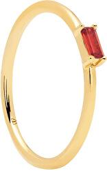 Minimalistaarannyal bevont ezüst gyűrű vörös cirkónium kővel CHERRY AMANI AN01-150