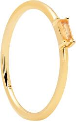 Minimalistický pozlacený prsten ze stříbra se zirkonem PEACH AMANI Gold AN01-149